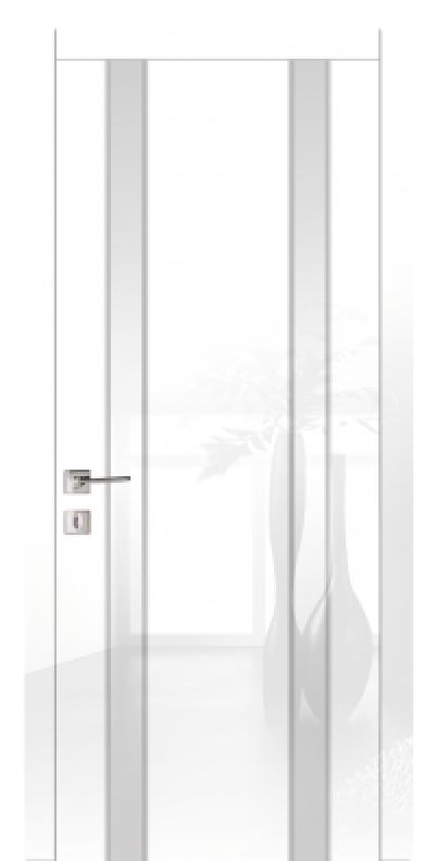 Двери межкомнатные белые глянцевые со стеклом